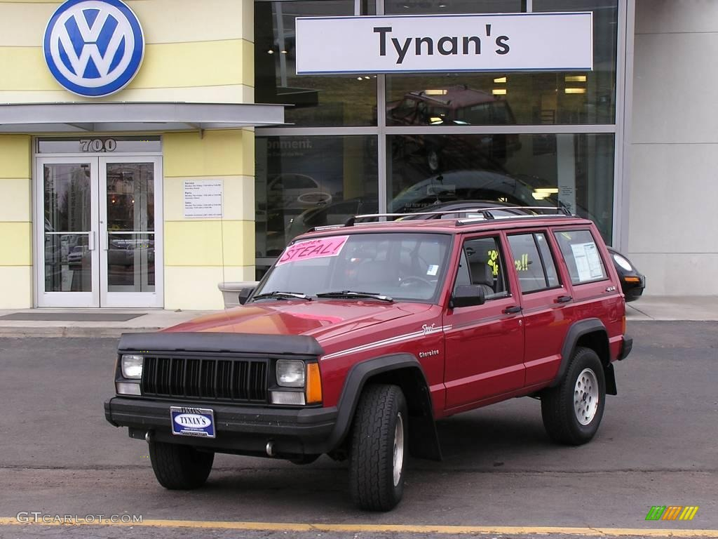 1992 red jeep cherokee sport 4x4 #4825407 photo #10 | gtcarlot