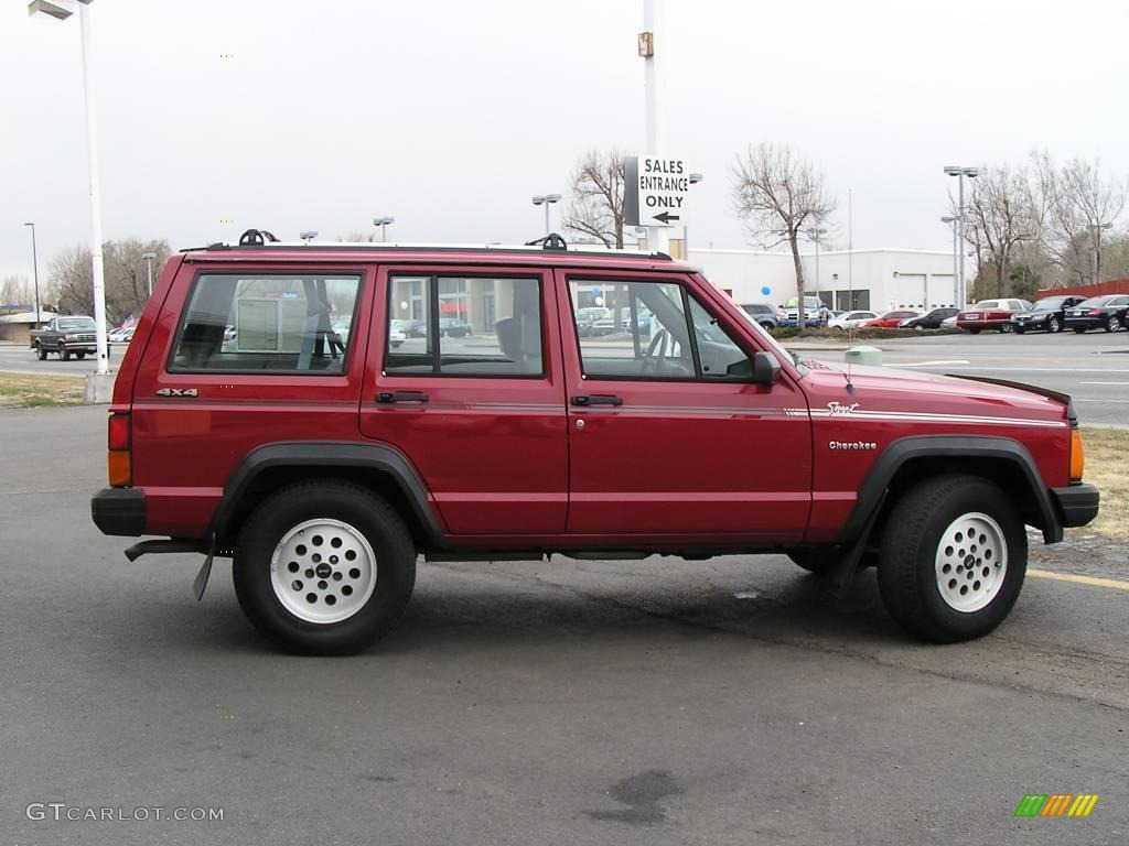 1992 red jeep cherokee sport 4x4 #4825407 photo #5 | gtcarlot