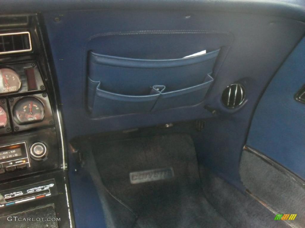 1977 chevrolet corvette coupe light blue color blue interior