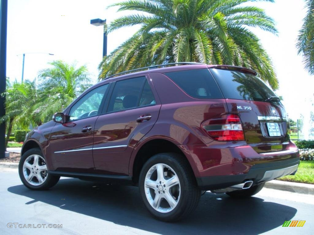 Barolo red metallic 2008 mercedes benz ml 350 4matic for Mercedes benz ml 350 2008