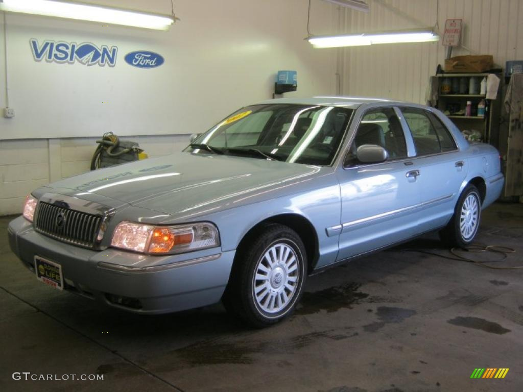 2007 light ice blue metallic mercury grand marquis ls. Black Bedroom Furniture Sets. Home Design Ideas