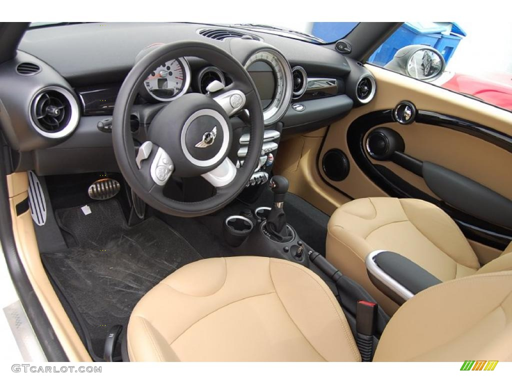 gravity tuscan beige leather interior 2010 mini cooper s. Black Bedroom Furniture Sets. Home Design Ideas