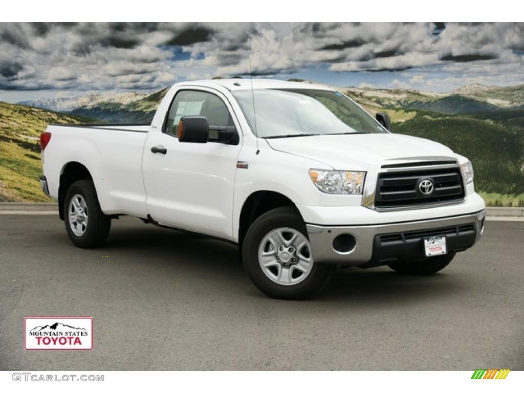 2011 super white toyota tundra regular cab 4x4 48387260. Black Bedroom Furniture Sets. Home Design Ideas