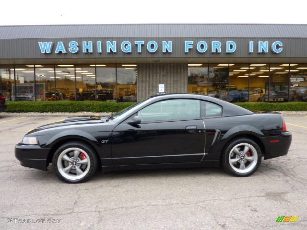 2001 Mustang Bullitt Coupe - Black / Dark Charcoal photo #1