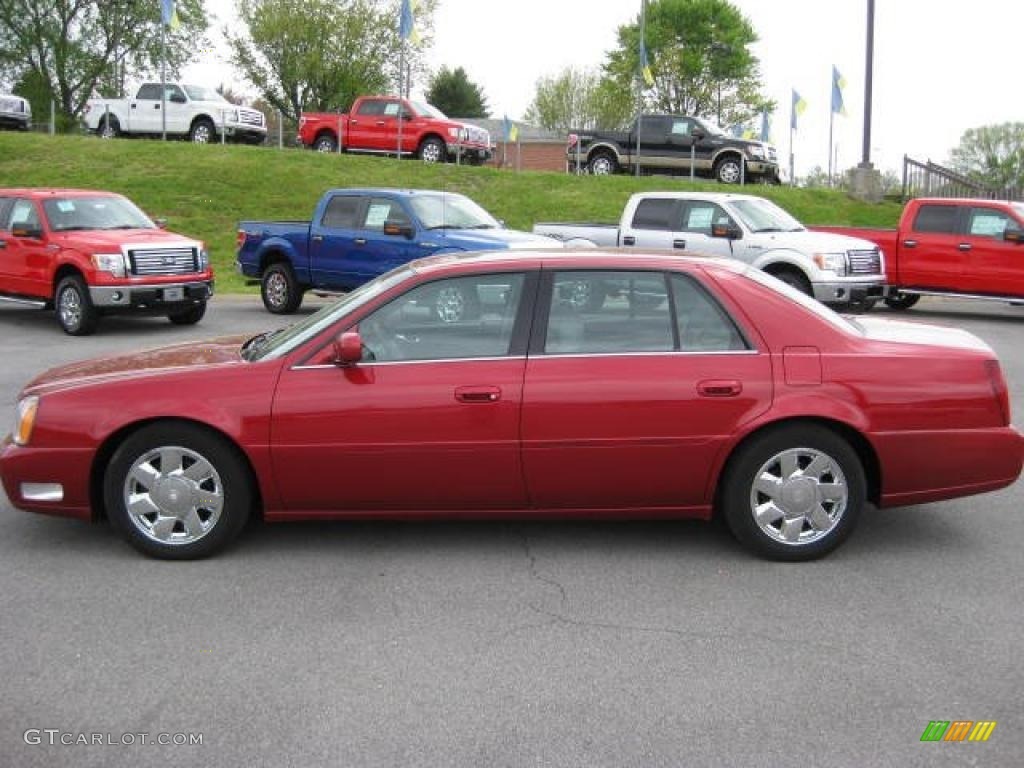 2001 crimson pearl red cadillac deville dts sedan 48387368 gtcarlot com car color galleries gtcarlot com