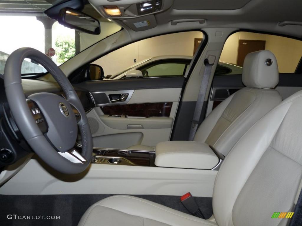 ivory white oyster grey interior 2011 jaguar xf premium sport sedan photo 48434106. Black Bedroom Furniture Sets. Home Design Ideas