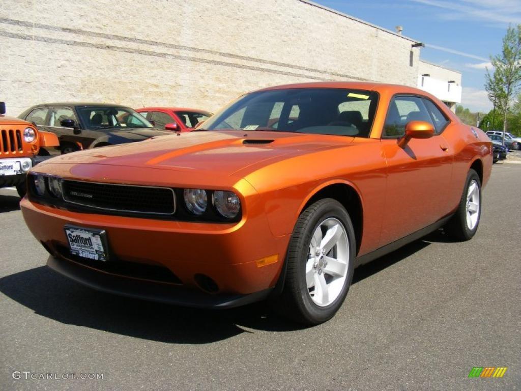2011 Toxic Orange Pearl Dodge Challenger Se 48456669