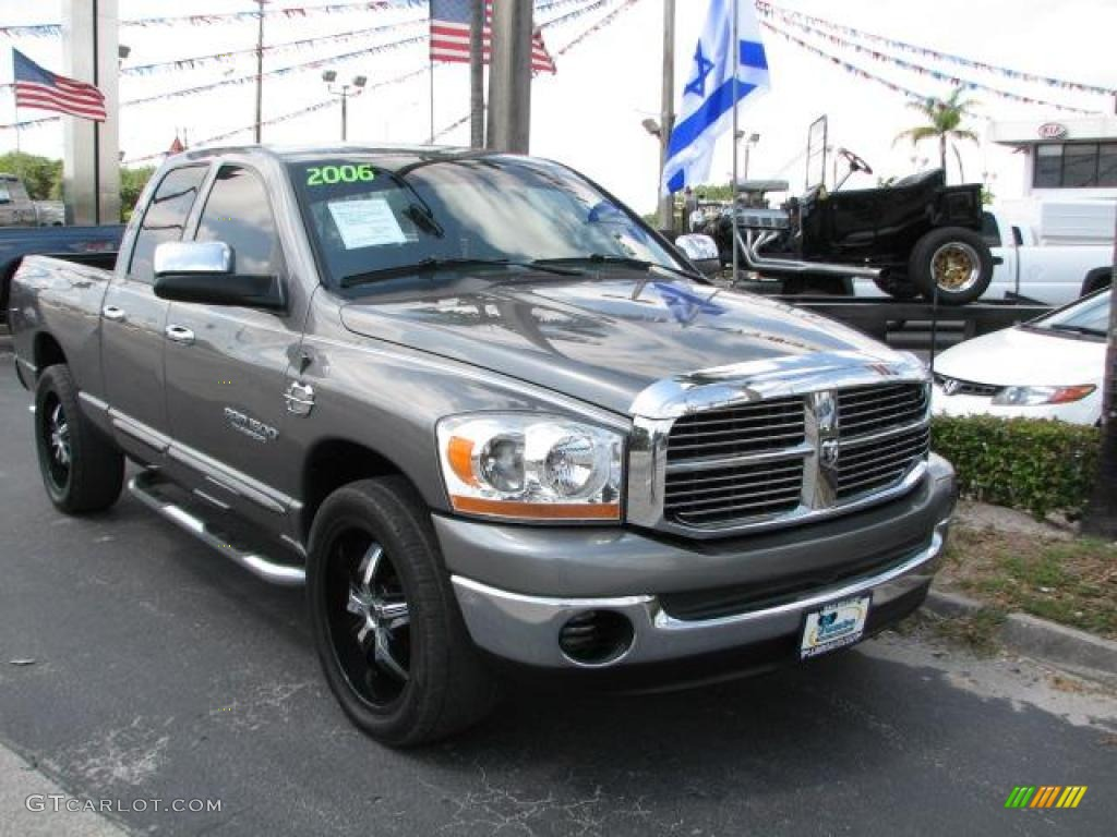 2006 Ram 1500 SLT Quad Cab - Mineral Gray Metallic / Medium Slate Gray photo #1