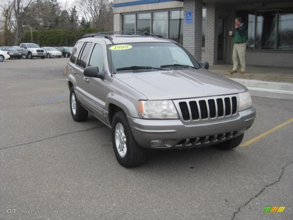 1999 Bright Platinum Metallic Jeep Grand Cherokee Limited 4x4