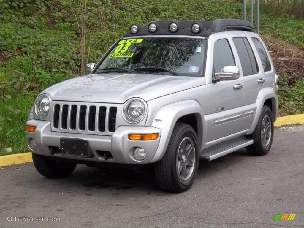 bright silver metallic 2003 jeep liberty renegade 4x4 exterior photo 48465513. Black Bedroom Furniture Sets. Home Design Ideas