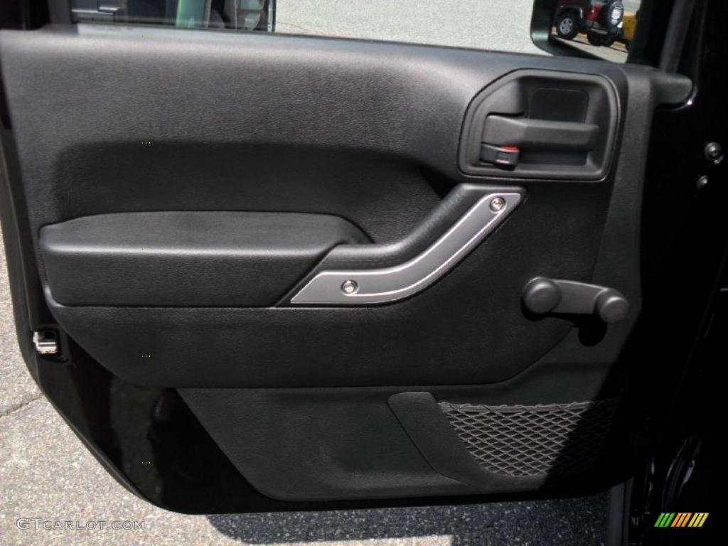 2011 Jeep Wrangler Rubicon 4x4 Black Door Panel Photo