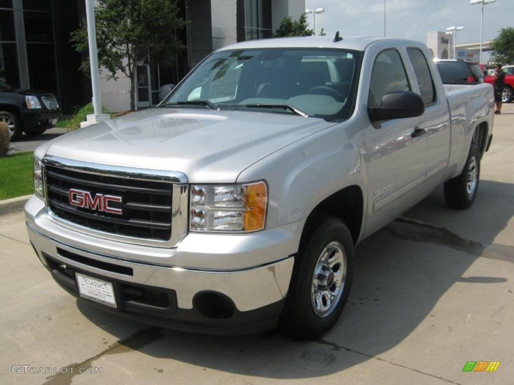 2011 pure silver metallic gmc sierra 1500 extended cab. Black Bedroom Furniture Sets. Home Design Ideas