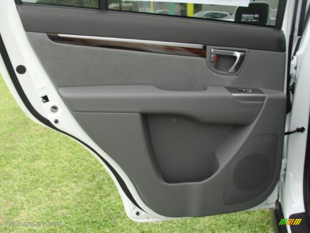 2011 Hyundai Santa Fe Se Gray Door Panel Photo 48479163