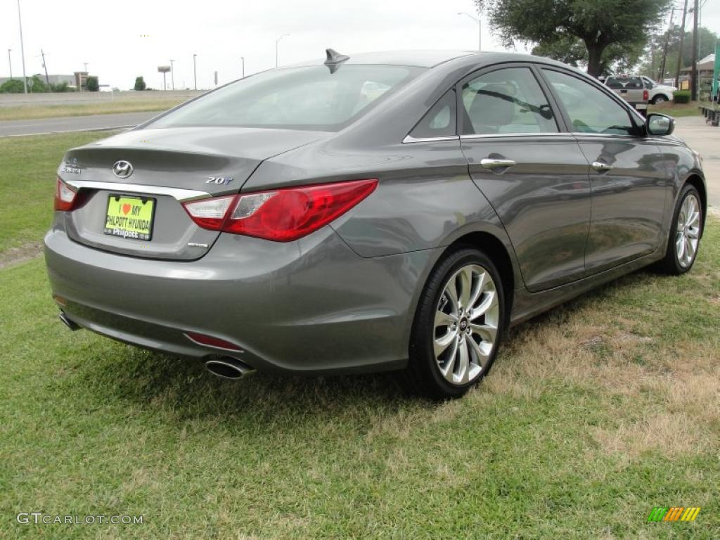 Harbor Gray Metallic 2011 Hyundai Sonata Limited 2 0t