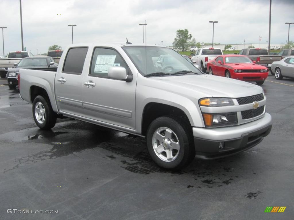 sheer silver metallic 2011 chevrolet colorado lt crew cab. Black Bedroom Furniture Sets. Home Design Ideas