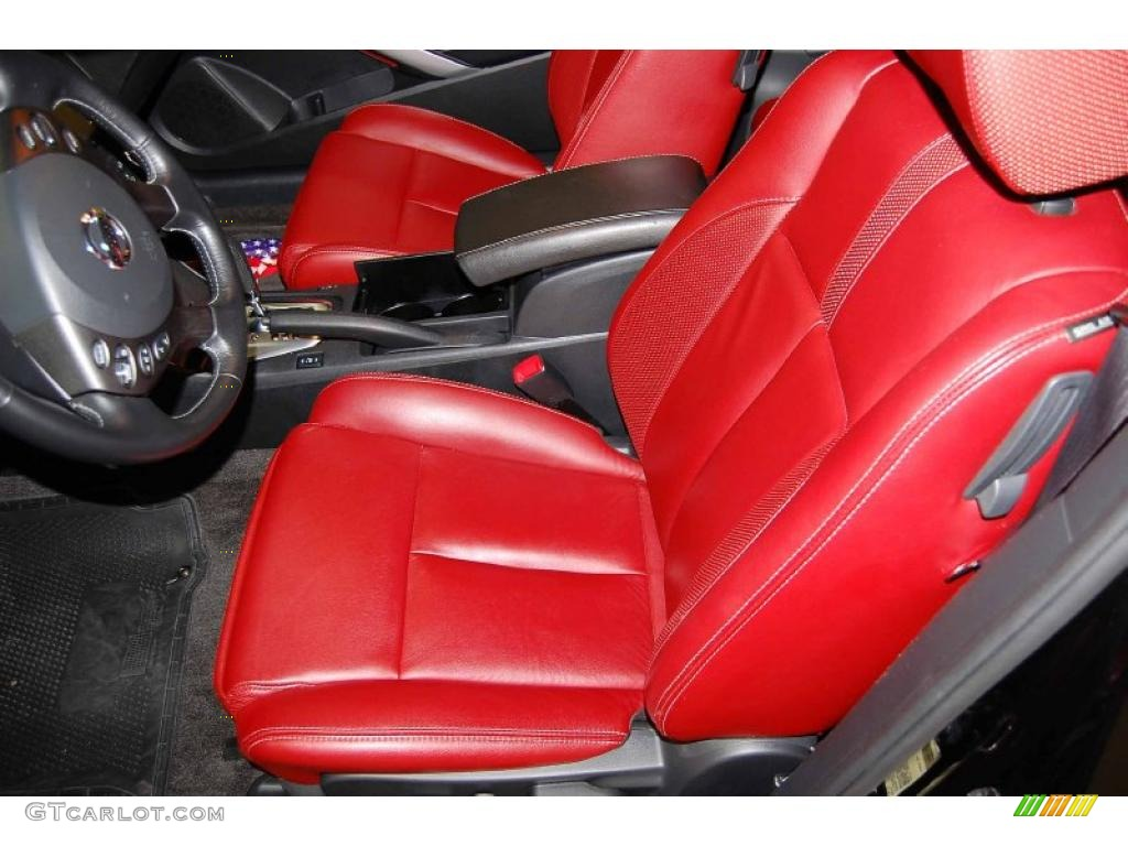 Red Leather Interior 2010 Nissan Altima 2 5 S Coupe Photo 48484233