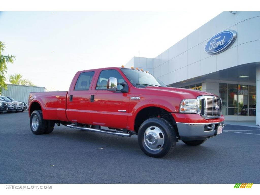 2007 red ford f350 super duty lariat crew cab 4x4 dually. Black Bedroom Furniture Sets. Home Design Ideas