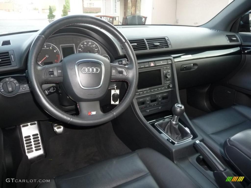 black interior 2008 audi a4 2 0t quattro s line sedan photo 48491935