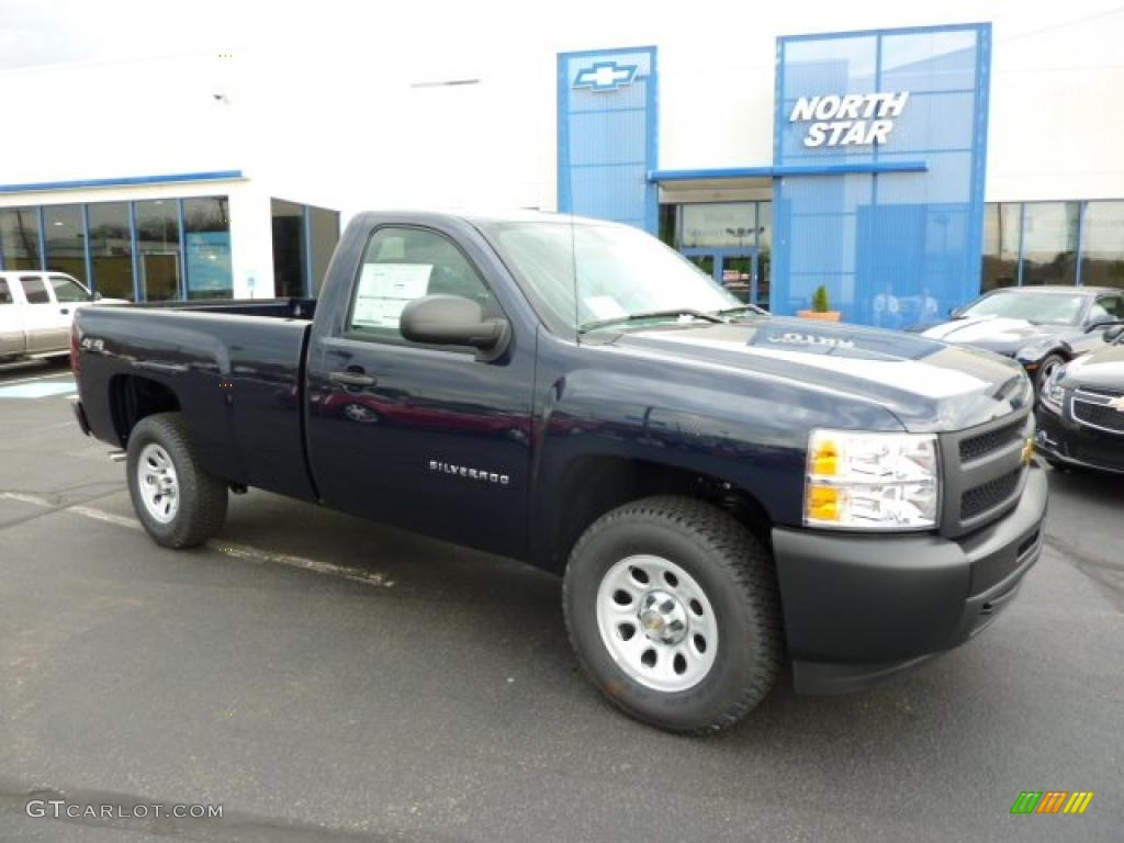 2011 Silverado 1500 Regular Cab 4x4 - Imperial Blue Metallic / Dark Titanium photo #1
