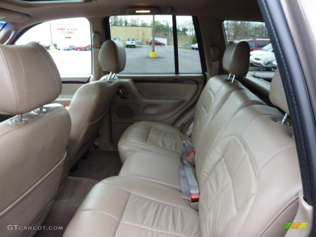 taupe interior 2002 jeep grand cherokee limited 4x4 photo 48494125. Black Bedroom Furniture Sets. Home Design Ideas