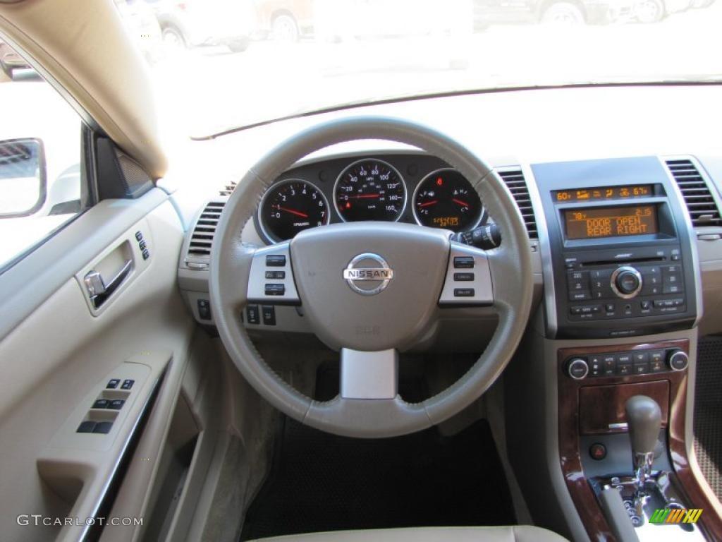 2008 Nissan Maxima 3 5 Sl Cafe Latte Dashboard Photo