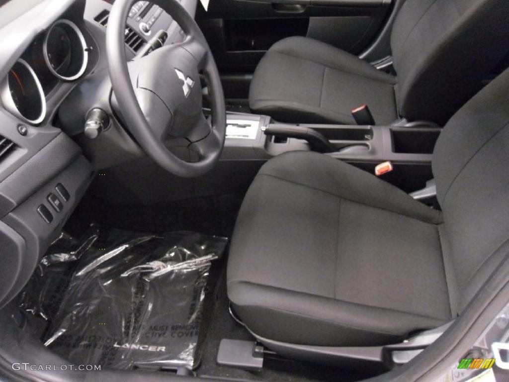 Black Interior 2010 Mitsubishi Lancer De Photo 48503685