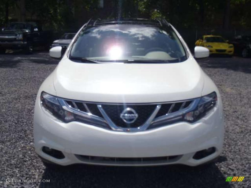 2011 Murano LE - Glacier White Pearl / Beige photo #4