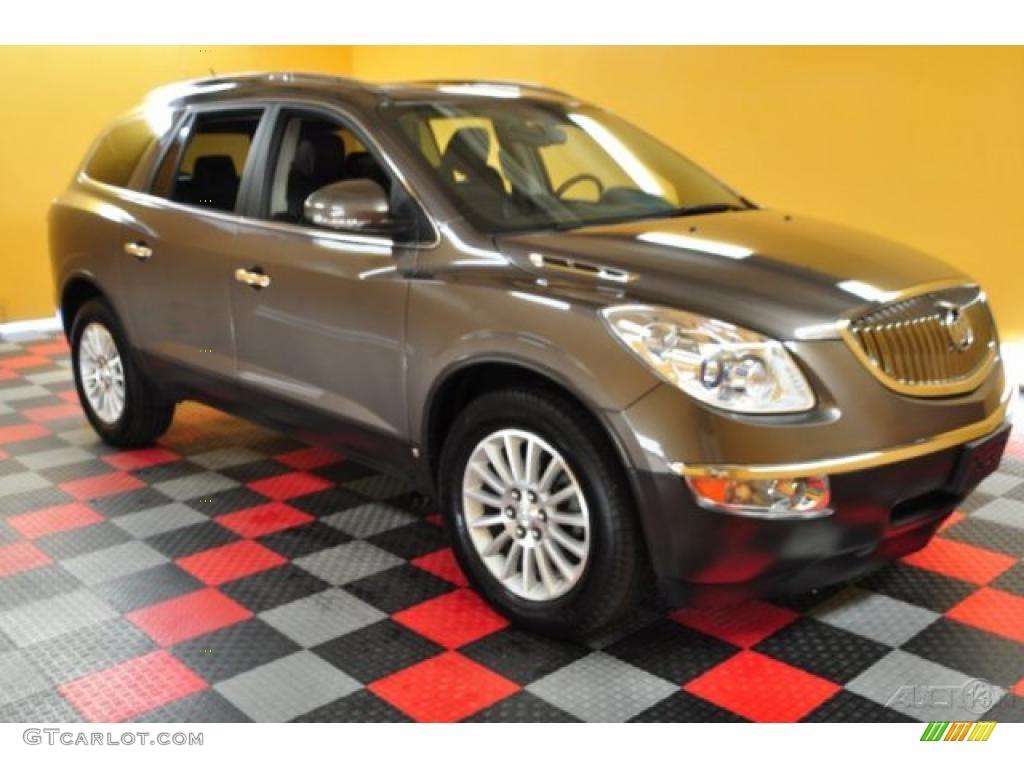 2009 Enclave CXL AWD - Cocoa Metallic / Ebony Black/Ebony photo #1