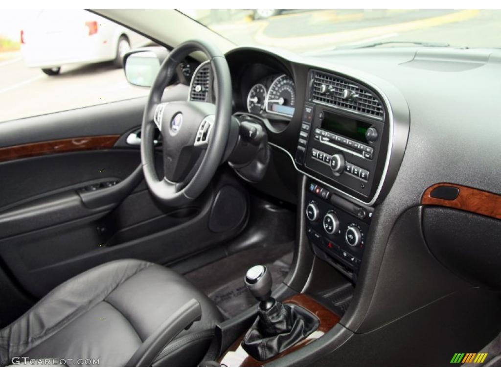 Black Interior 2010 Saab 9 3 2 0t Sport Sedan Xwd Photo 48509653