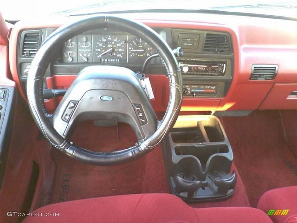 1992 ford explorer xlt 4x4 red dashboard photo 48512212. Black Bedroom Furniture Sets. Home Design Ideas