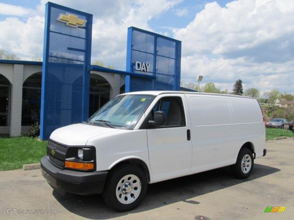 2011 summit white chevrolet express 1500 awd cargo van 48520378 car color. Black Bedroom Furniture Sets. Home Design Ideas