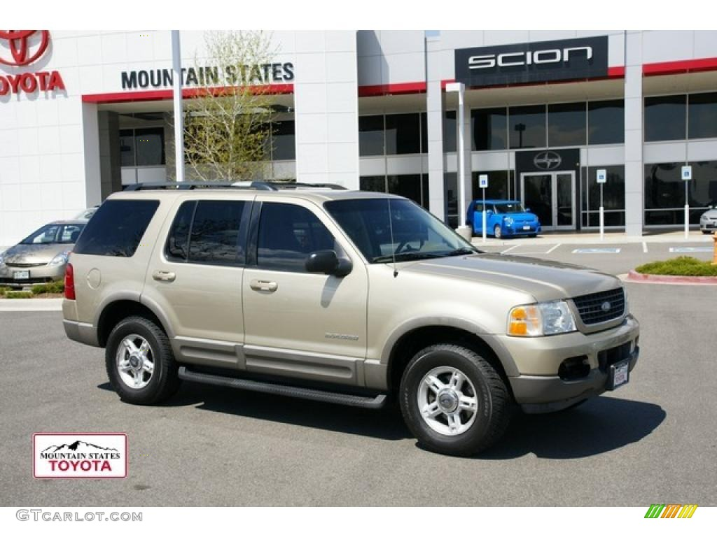 2002 harvest gold metallic ford explorer xlt 4x4 48520107