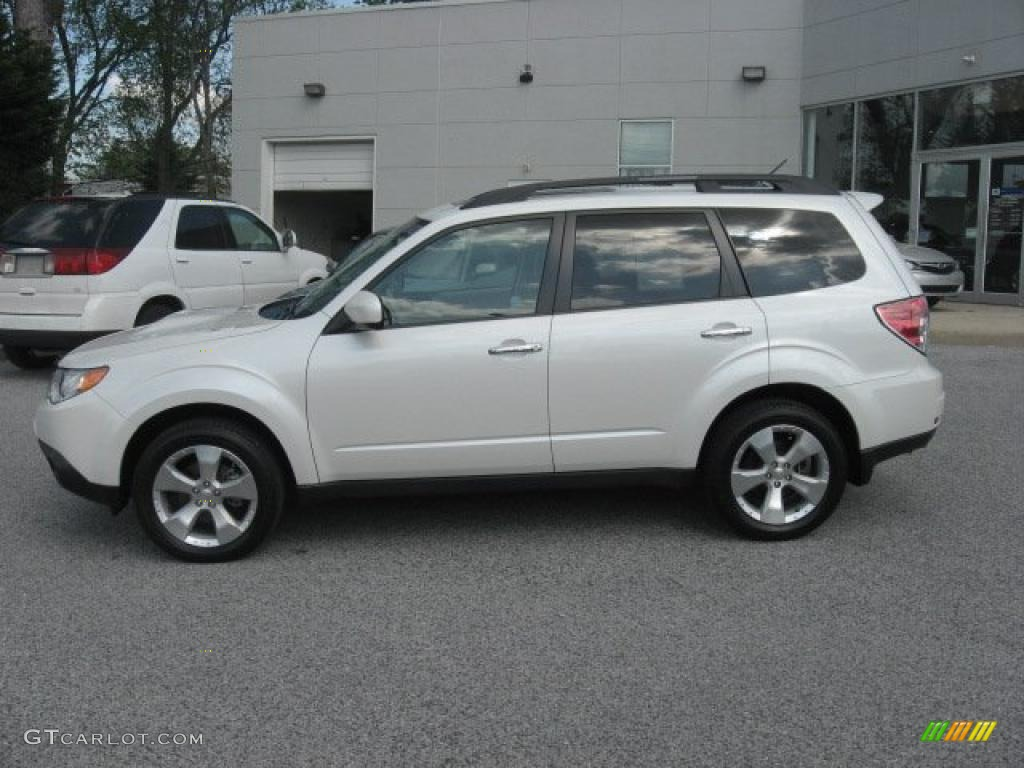 Satin white pearl 2009 subaru forester 2 5 xt limited