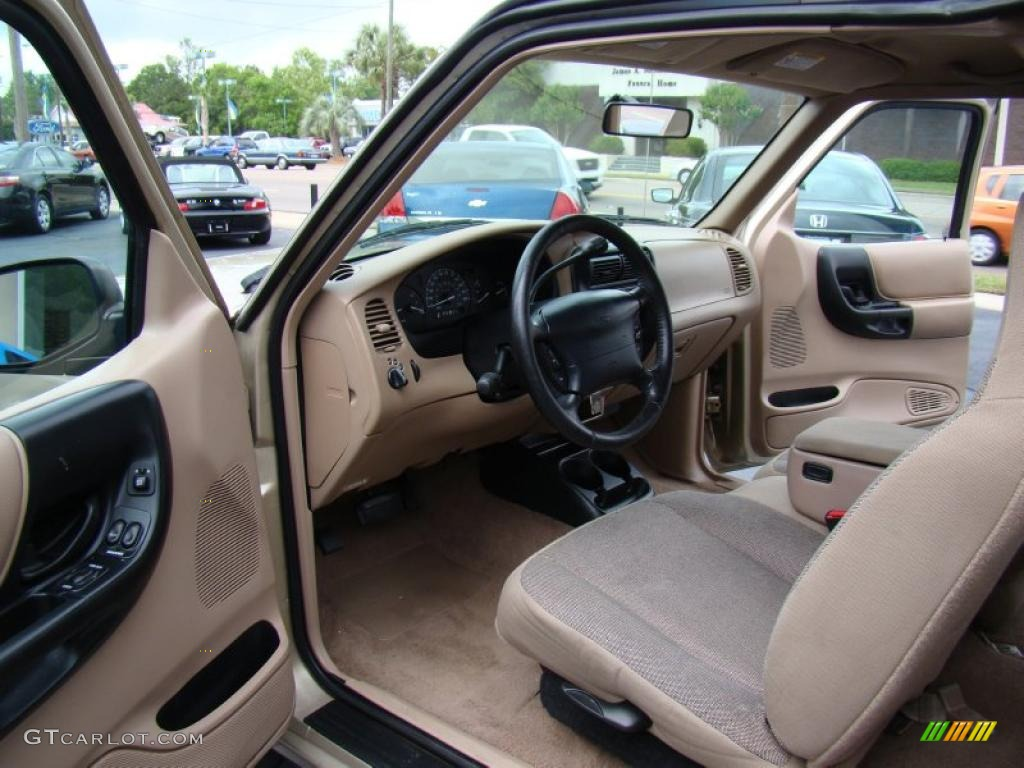 Medium Prairie Tan Interior 2000 Ford Ranger XLT SuperCab Photo #48558938 Design