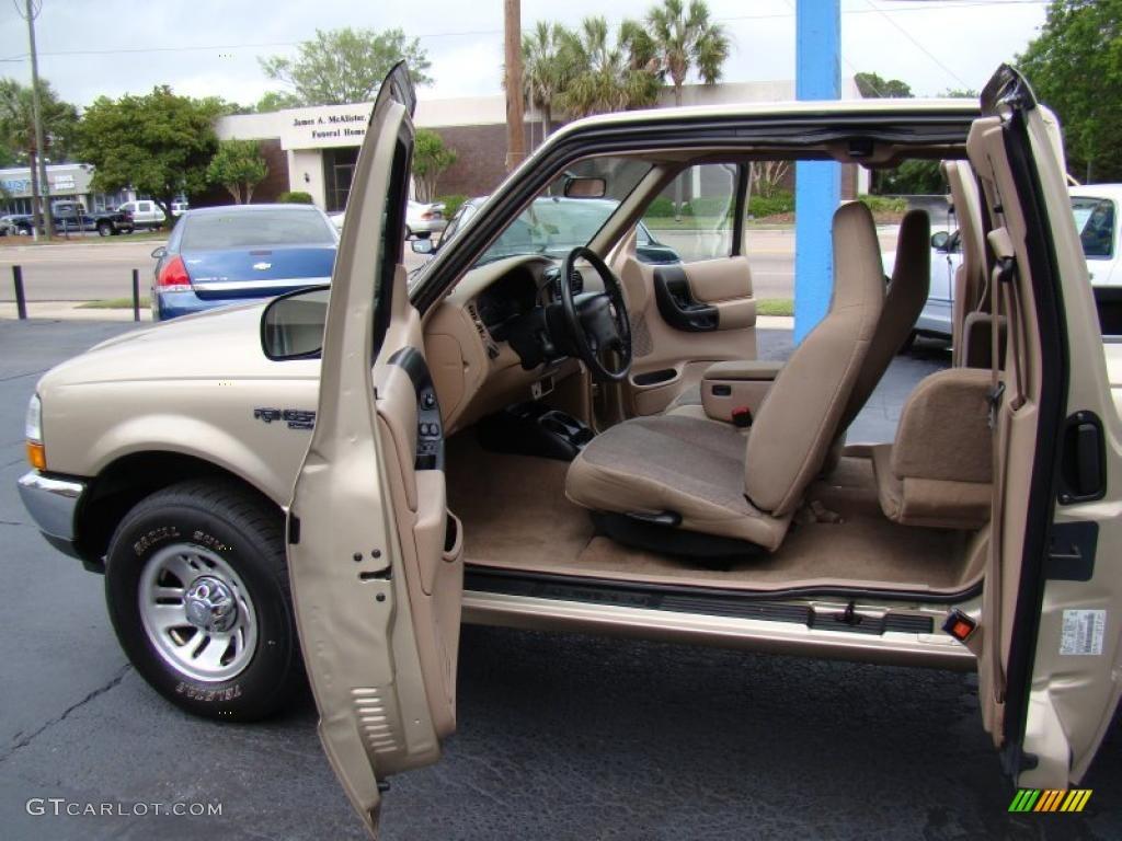 medium prairie tan interior 2000 ford ranger xlt supercab photo 48558974. Black Bedroom Furniture Sets. Home Design Ideas