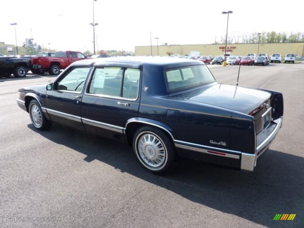 Dark Sapphire Blue Metallic 1993 Cadillac Deville Sedan