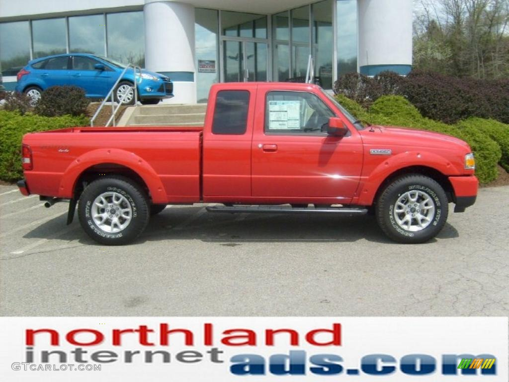 2011 torch red ford ranger sport supercab 4x4 48520254 car color galleries. Black Bedroom Furniture Sets. Home Design Ideas