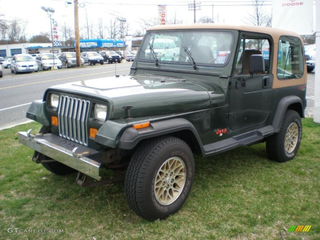Moss Green Pearl Jeep Wrangler