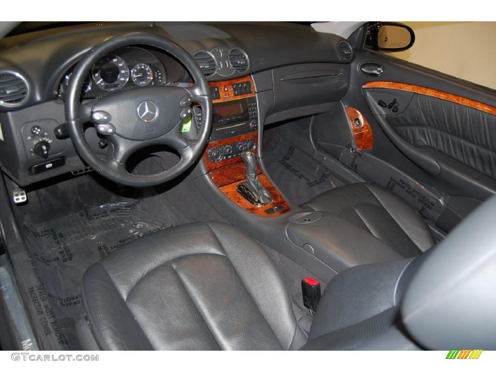Charcoal Interior 2005 Mercedes Benz Clk 320 Cabriolet