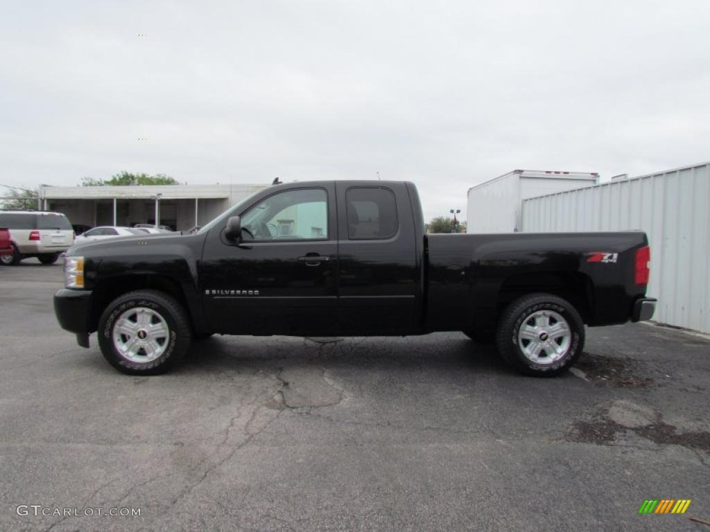 black 2008 chevrolet silverado 1500 lt extended cab 4x4 exterior photo 48620204. Black Bedroom Furniture Sets. Home Design Ideas