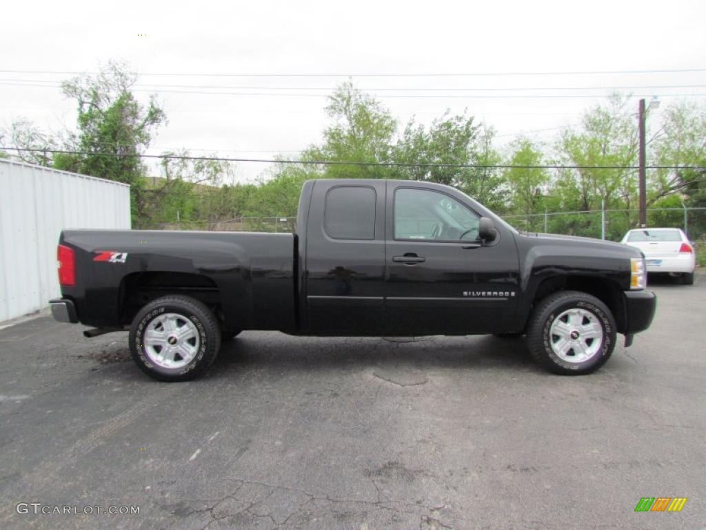 black 2008 chevrolet silverado 1500 lt extended cab 4x4 exterior photo 48620264. Black Bedroom Furniture Sets. Home Design Ideas