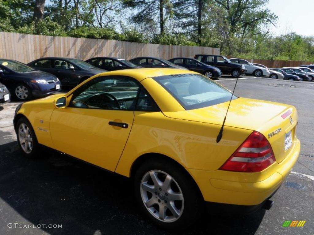 sunburst yellow 1998 mercedes benz slk 230 kompressor roadster exterior photo 48623820. Black Bedroom Furniture Sets. Home Design Ideas