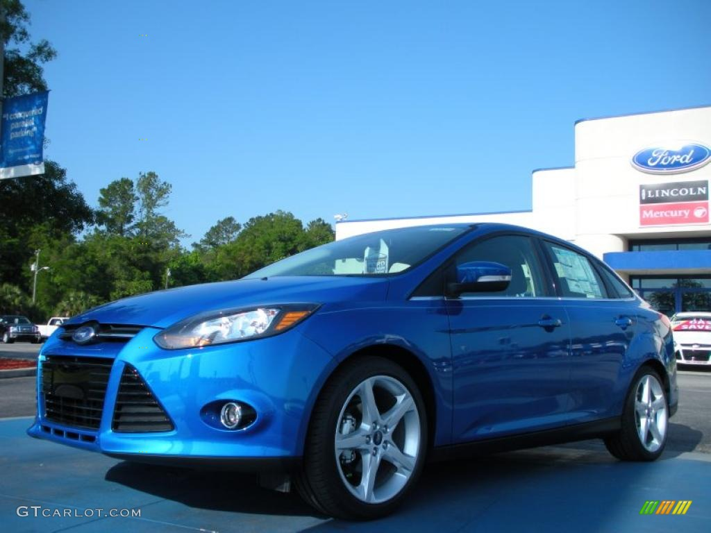 Blue Candy Metallic 2012 Ford Focus Titanium Sedan Exterior Photo 48634001 Gtcarlot Com