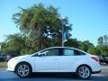 2012 White Platinum Tricoat Metallic Ford Focus SEL Sedan  photo #2