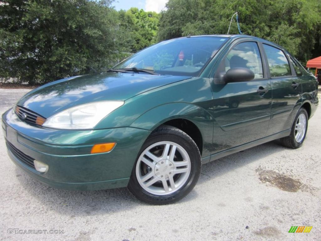 rainforest green metallic 2001 ford focus se sedan exterior photo 48635340. Black Bedroom Furniture Sets. Home Design Ideas
