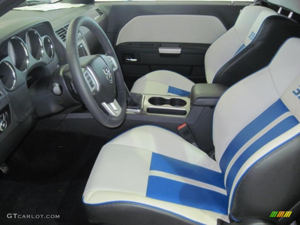 Pearl White Blue Interior 2011 Dodge Challenger Srt8 392 Inaugural Edition Photo 48638808