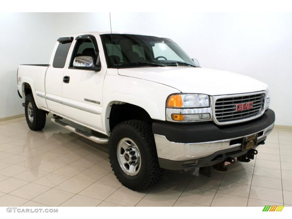 2002 summit white gmc sierra 2500hd sle extended cab 4x4 48521132 car color. Black Bedroom Furniture Sets. Home Design Ideas