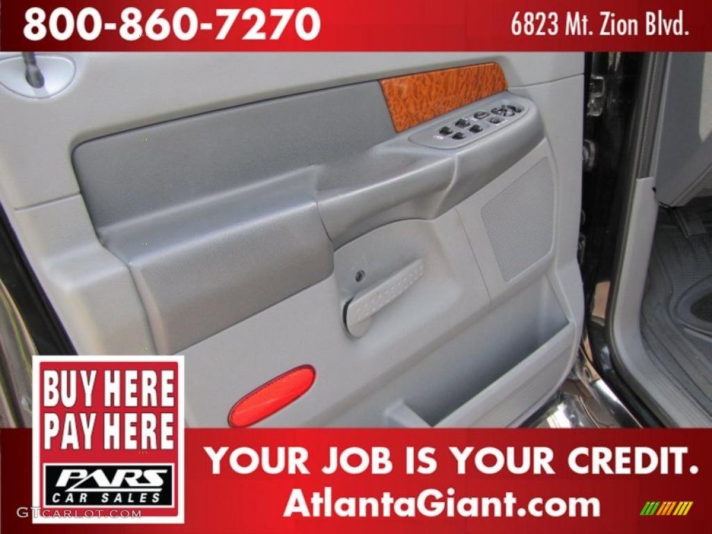 2006 Ram 1500 SLT Quad Cab - Brilliant Black Crystal Pearl / Medium Slate Gray photo #6
