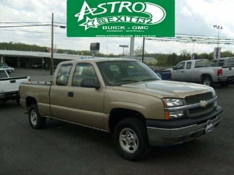 2004 Chevrolet Silverado 1500 Work Truck Extended Cab 4x4 Data Info