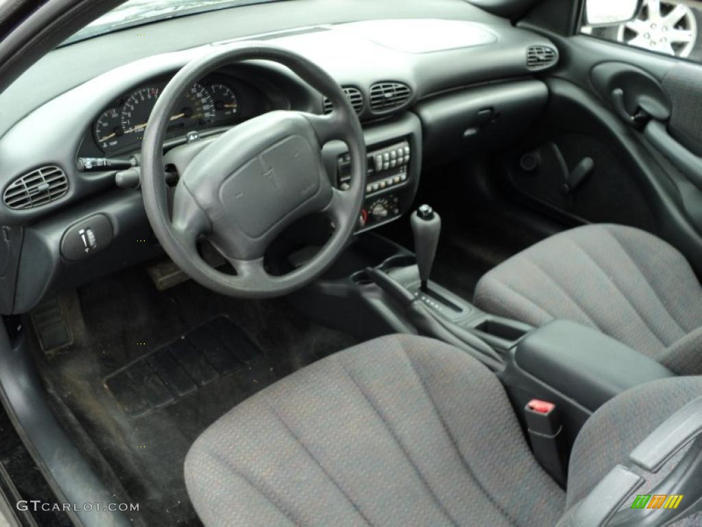 graphite interior 2001 pontiac sunfire se coupe photo #48683458
